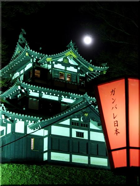 月夜も照らす高田城