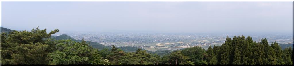 砺波平野を望むパノラマ
