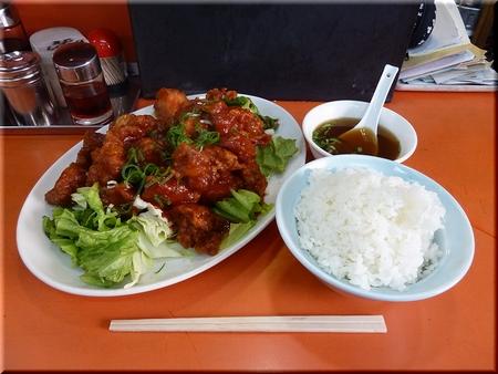 鶏のケチャップ煮+めし(中)