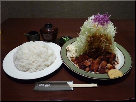 とんてき定食(ご飯:山盛/キャベツ:スーパー山盛)