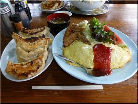 オムライス+餃子