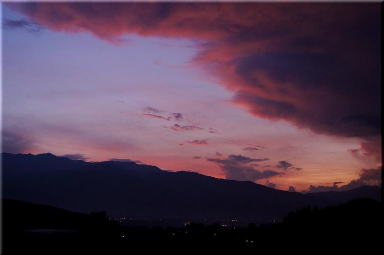 麓付近で見れたの夕焼け