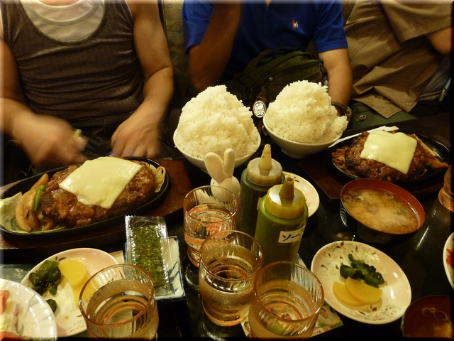 チーズハンバーグ定食(大盛り)
