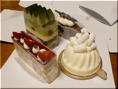 抹茶+デリスショコラ+パインチーズケーキ+エクラテ