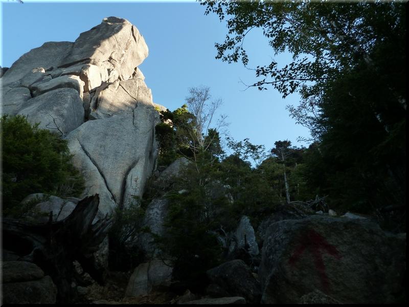岩峰のひとつ