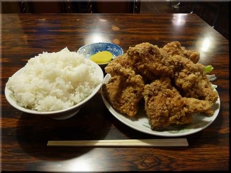 鳥唐揚げ+大ライス