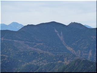 北岳と金峰山・五丈岩