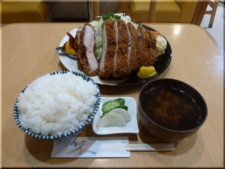 スーパージャンボワラジカツ定食(大盛り)