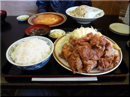 唐揚定食(大盛り)