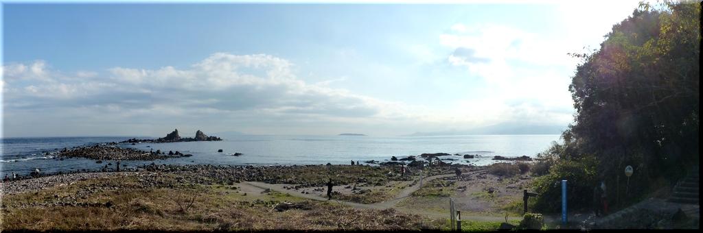 真鶴岬で海風を浴びる