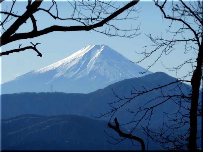 凛々しい富士山