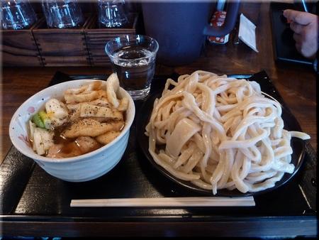 鶏肉汁うどん(大盛)