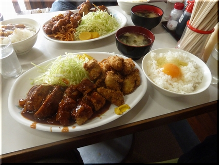 カキフライ・ヒレカツ定食