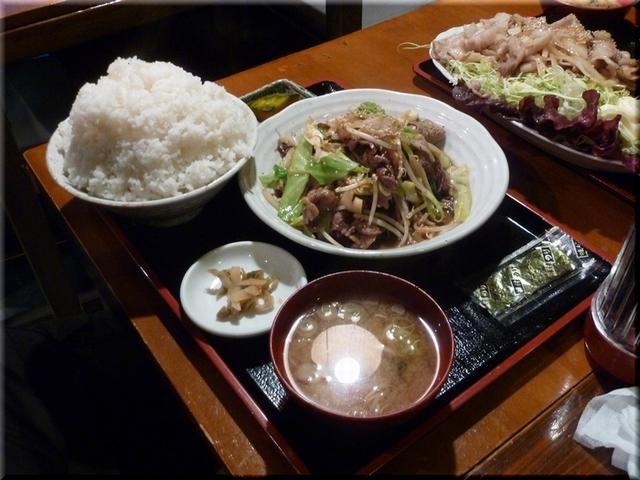牛カルビ野菜炒め定食(W・大盛り)