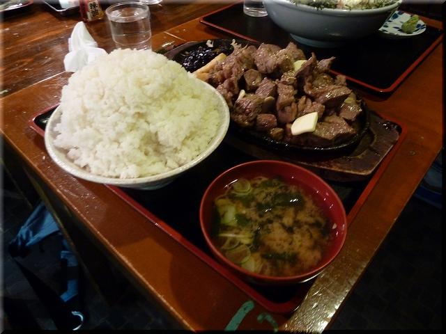 サイコロステーキ定食(メガ・大盛り)