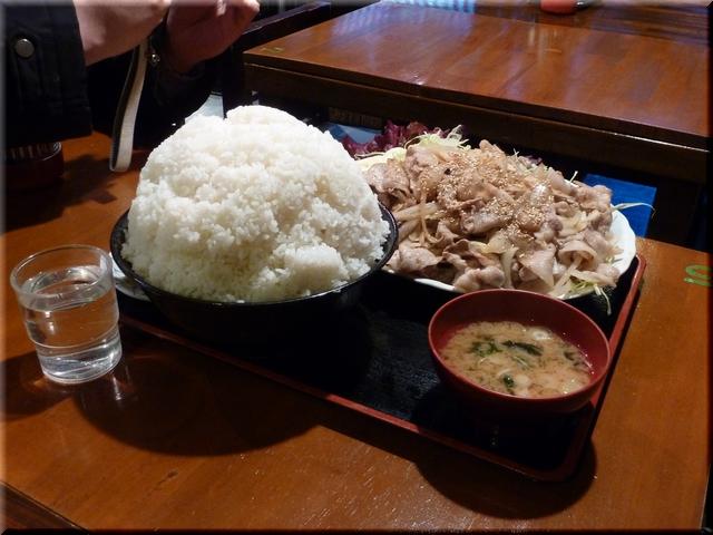 豚バラガーリック焼肉定食(特特メガ盛り)