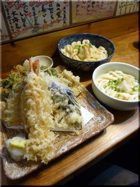天ぷら盛り合わせ+ぶっかけ(小・並)