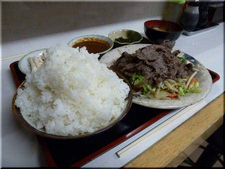 朝鮮焼定食(牛・大盛り)