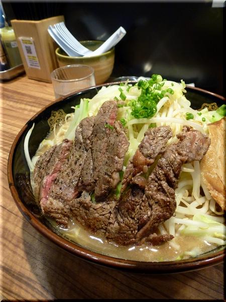 らーめん大盛+牛ステーキ