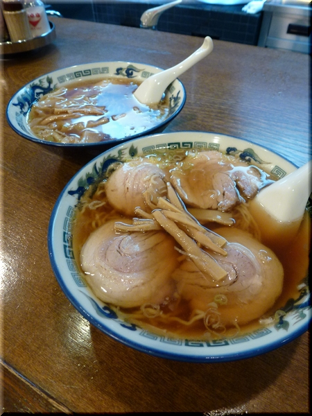 チャーシュー麺&ワンタン麺