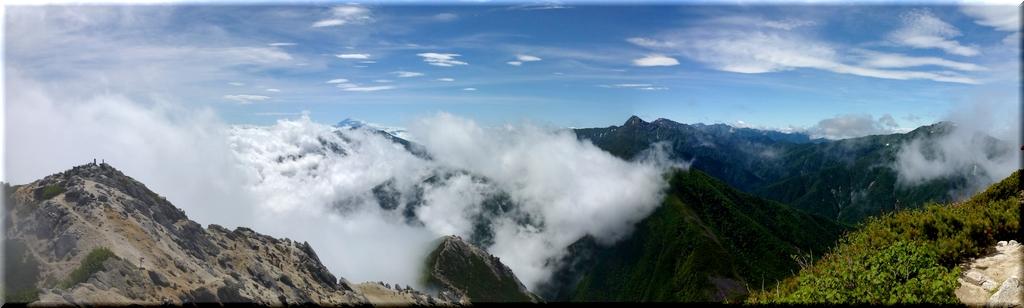 3000m級の眺望