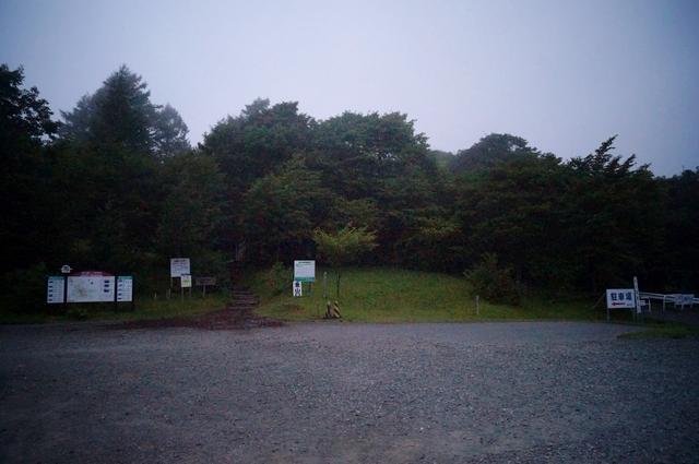 馬返しキャンプ場駐車場