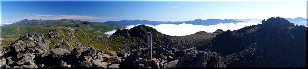 大雪山旭岳に石狩山地