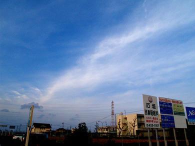 流れる 雲