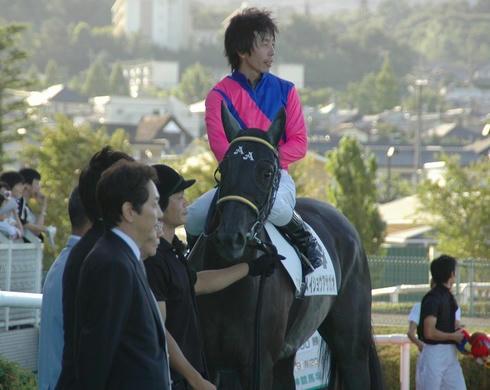 メイショウアサガオ号と佐藤哲三騎手