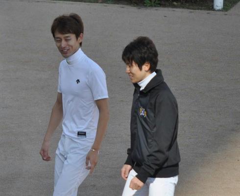 秋山騎手と田中博康騎手