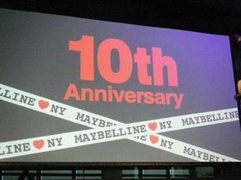 MAYBELLINE NEW YORK 10th Anniversary Event