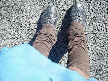 12分丈ロング美脚くしゅくしゅブーツカットレギンス