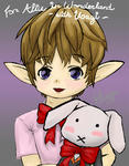 <br />Alice in Wonderlandのうさぎさんに描いたショタララ!