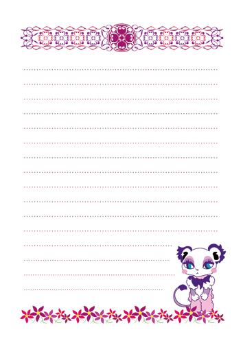 花とハートとKANERAの無料メモ帳(素材OK商用可)