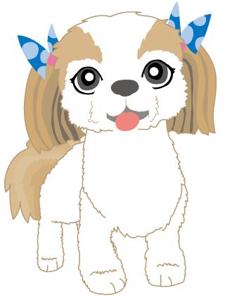 無料素材 商業可 犬 シーズー free dog