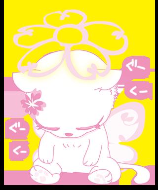 無料キャラ 桜 猫 妖精 Cherry Cat