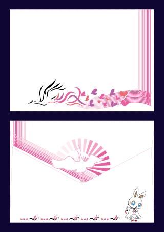 Free illustrator Envelope Japan Design
