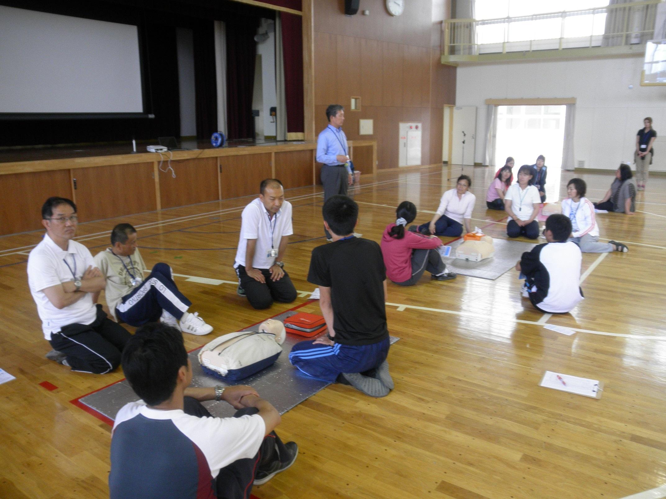 AED講習会 吉根小学校の皆さま