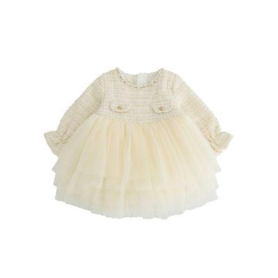 kiskissing wholesale baby kid girl patchwork mesh tutu dress