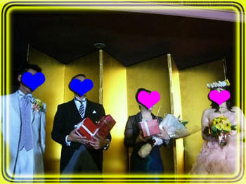M先生ご夫妻と新郎新婦❤