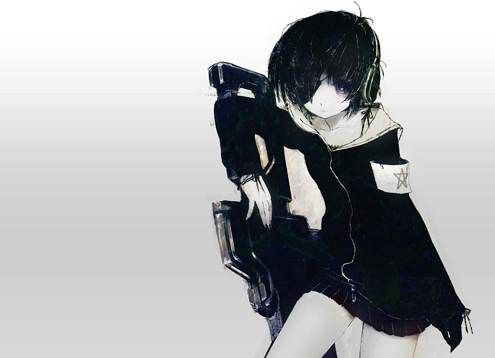 Девушка в шарфе аниме 4