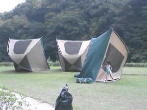 テント干し