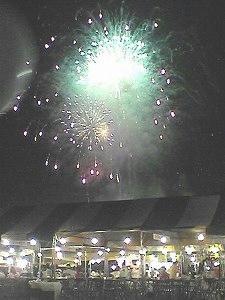 ふれあい戸河内祭りの花火