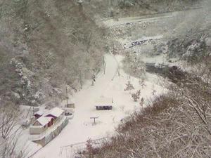 もちろんキャンプ場も雪!雪!
