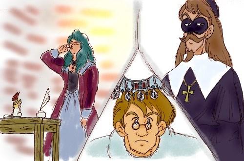 毒を飲むミレディー、ボナシューを詰問するリシュリュー、首飾りを完成させたオレイリー