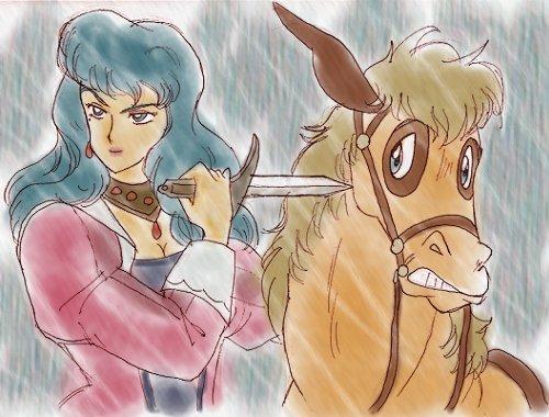 あんたの可愛い馬の命がないよ。