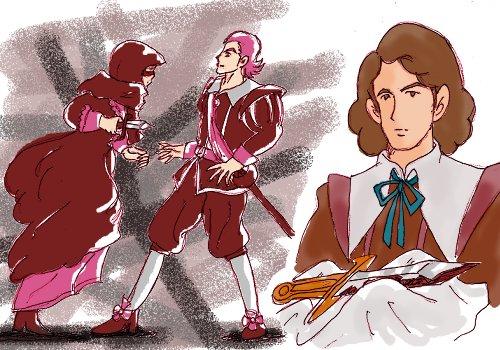 アンヌ王妃のお使いと偽って訪ねてきた女に刺されて…