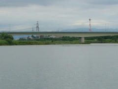 水位が50Cm上がった多摩川