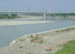 川の流れが変わった多摩川
