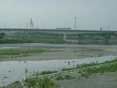 真夏の多摩川
